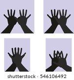 hands silhouette graphic design ...   Shutterstock .eps vector #546106492