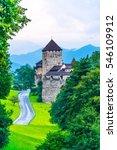 gutenberg castle in the... | Shutterstock . vector #546109912