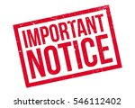 Important Notice Rubber Stamp....