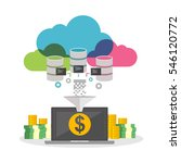 online business. financial... | Shutterstock .eps vector #546120772