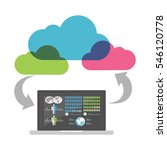 cloud business intelligence... | Shutterstock .eps vector #546120778