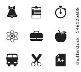set of 9 editable education... | Shutterstock .eps vector #546125608