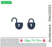 lock vector icon   Shutterstock .eps vector #546132022