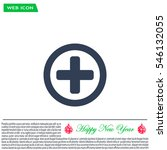 medical cross icon | Shutterstock .eps vector #546132055