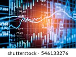 stock market trading graph and... | Shutterstock . vector #546133276