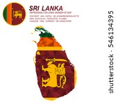 Sri Lanka Flag Overlay On Sri...
