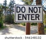 do not enter sign at a... | Shutterstock . vector #546148132