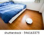 robotic vacuum cleaner on... | Shutterstock . vector #546163375