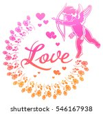 cupid with bow hunting for... | Shutterstock . vector #546167938