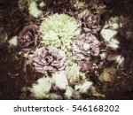 Grunge Flower Background And...