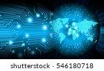 future technology  blue cyber... | Shutterstock . vector #546180718
