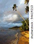 beautiful  sunset on tropical... | Shutterstock . vector #54619213