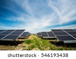 solar panel  photovoltaic ... | Shutterstock . vector #546193438
