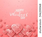 happy valentine day festive... | Shutterstock .eps vector #546200068