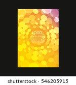vector brochure flyer design... | Shutterstock .eps vector #546205915