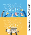 2017 new year business success... | Shutterstock .eps vector #546206842
