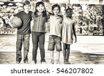 group of mixed race children... | Shutterstock . vector #546207802