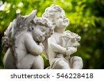 Sculpture Of  Angel In The Par...
