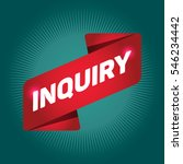 inquiry arrow tag sign. | Shutterstock .eps vector #546234442