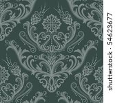 Luxury Green Floral Damask...