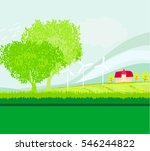 eco farming   landscapes  | Shutterstock . vector #546244822