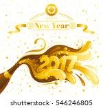 happy new year 2017 vector... | Shutterstock .eps vector #546246805