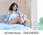 young beautiful brunette woman...   Shutterstock . vector #546248302