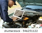 mechanic using computer...   Shutterstock . vector #546251122