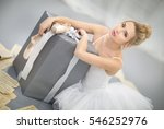 the ballerina with a gift | Shutterstock . vector #546252976