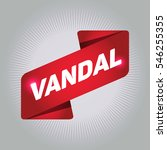 vandal arrow tag sign. | Shutterstock .eps vector #546255355