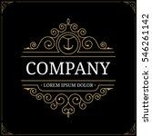 retro vintage luxury logo... | Shutterstock .eps vector #546261142