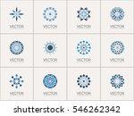 geometric logo template set.... | Shutterstock .eps vector #546262342