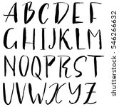 hand drawn font made by dry...   Shutterstock .eps vector #546266632