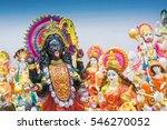 clay idol of goddess kali ... | Shutterstock . vector #546270052
