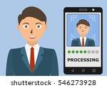biometrical identification.... | Shutterstock . vector #546273928