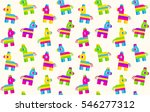 seamless pattern of cartoon... | Shutterstock .eps vector #546277312