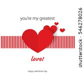 sweet quote with heart for... | Shutterstock .eps vector #546278026