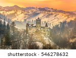 sunset light over medieval... | Shutterstock . vector #546278632