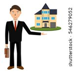 woman realtor shows a house for ... | Shutterstock . vector #546279052