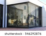 window with modern shutter ... | Shutterstock . vector #546292876