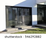 window with modern shutter ... | Shutterstock . vector #546292882