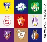 football team logo. set. the... | Shutterstock .eps vector #546296362