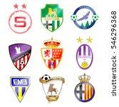 football team logo. set. the... | Shutterstock .eps vector #546296368