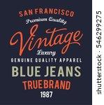 vintage denim typography  t... | Shutterstock .eps vector #546299275