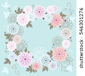 floral round frames from cute... | Shutterstock .eps vector #546301276