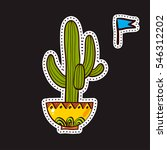 fashion patches  brooches with... | Shutterstock .eps vector #546312202