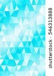 blue background of polygonal... | Shutterstock . vector #546313888