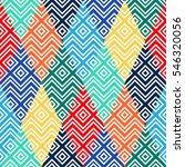 geometric rainbow seamless... | Shutterstock .eps vector #546320056
