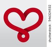 heart ribbon red   Shutterstock .eps vector #546324532