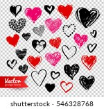 vector hand drawn collection of ... | Shutterstock .eps vector #546328768